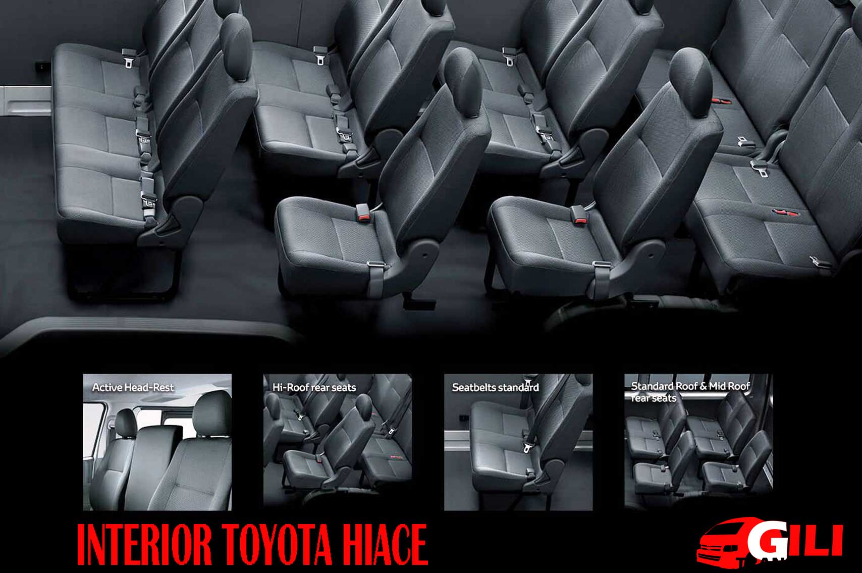 Desain Interior Toyota hiace terbaru