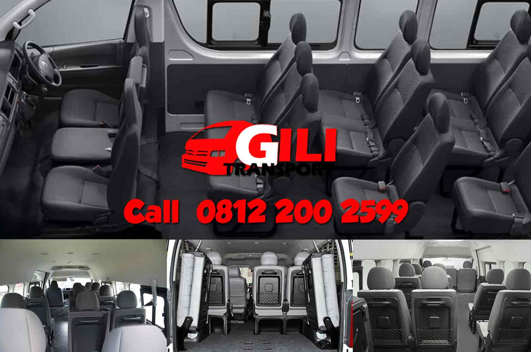 Interior sewa hiace commuter gilitrans