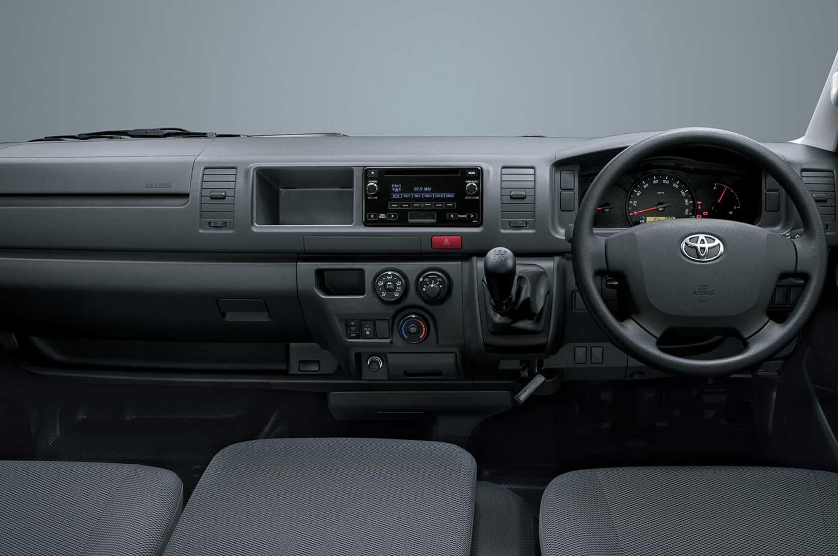 foto interior Dashboard toyota hiace