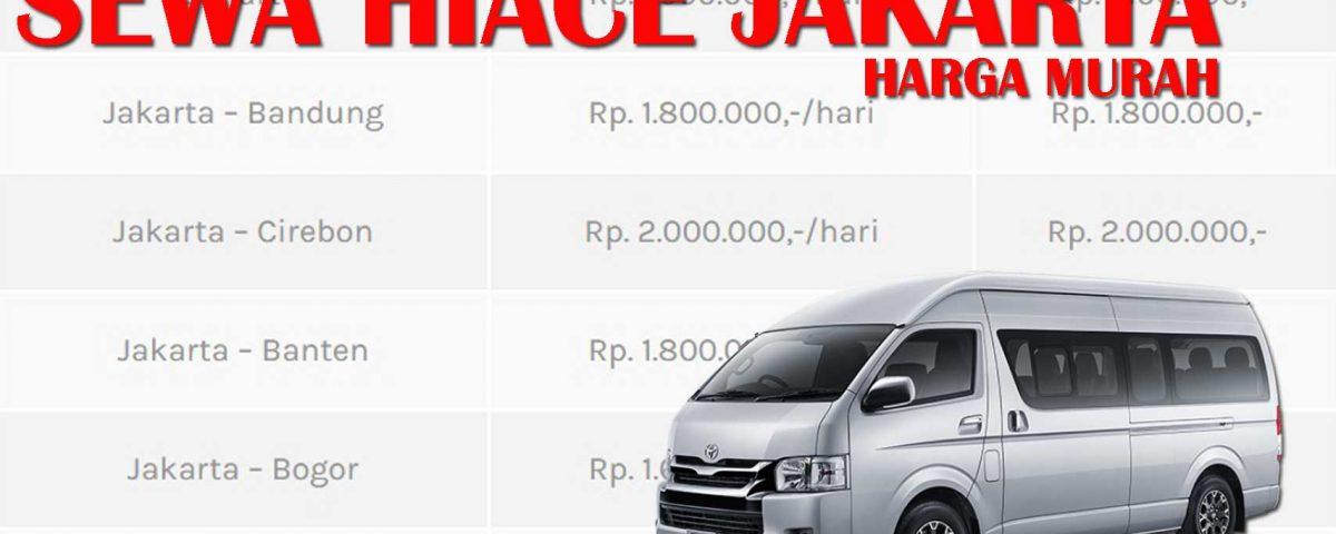 paket sewa hiace Jakarta harga murah